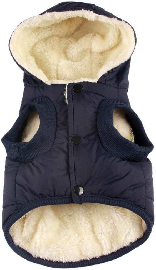 Vecomfy Fleece Dog Hoodie in Winter